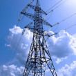High-voltage support of transmission lines — Stock Photo