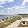 Park on spit  Yaroslavl Russia — Stock Photo