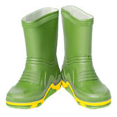 Kids rubber boots — Stock Photo