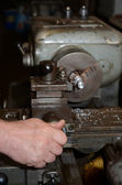 Old lathe. — Stock Photo