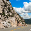 Curving mountain road — Stock Photo