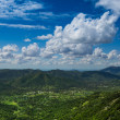 Panoramic view over a valley — Stock Photo