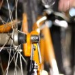 Footage - Changing tyres on bicycle. — Stock Video
