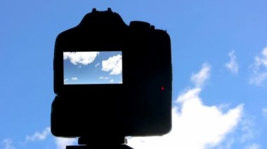 Clouds timelapse with photo-camera — Stock Video