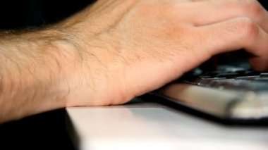Footage - Carpal syndrome after typing on keyboard and mouse — Stock Video