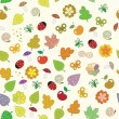 Nature seamless pattern. — Stock Vector
