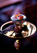 Embers on the hookah — Stock Photo