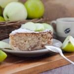 kus Domácí jablečný závin se skořicí — Stock fotografie