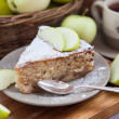 Piece of homemade apple pie with cinnamon — Stock Photo