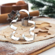 Baking Christmas cookies and gingerbread — Stockfoto
