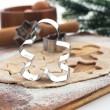 Baking Christmas cookies and gingerbread — Foto de Stock