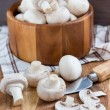 Fresh champignon mushrooms — Stock Photo