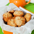 Homemade apple cookies in the box — Stock Photo