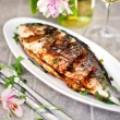 Baked sea bream  — Stock Photo