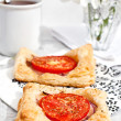 tomato tartlets — Stock Photo