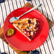 Piece of homemade plum pie — Stock Photo #36712079