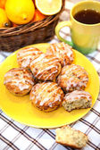 Lemon poppy seed muffins — Stock Photo