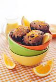 Fresh orange muffins — Stock Photo