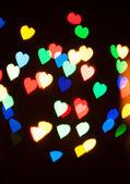 Abstract heart bokeh — Stock Photo