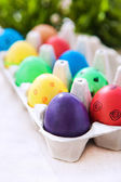 Colorful painted Easter eggs — Stock Photo