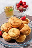 Fresh homemade muffins for breakfast — Stock Photo