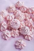 Pink meringues — Stock Photo