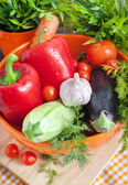 Fresh vegetables (ratatouille ingredients) — Stock Photo