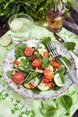 Healthy fresh spring salad — Stock Photo