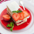 Piece of  strawberry cake — Stock Photo #50122881