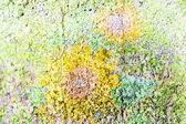 Cor de fundo mural floral — Fotografia Stock