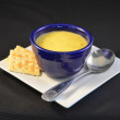 Soup and Crackers — Stock Photo
