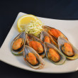 Stock Photo: Mussels on Half Shell