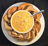 Pan y queso dip — Foto de Stock