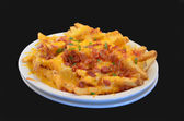Loaded Bacon and Cheddar Fries — Stock Photo