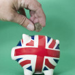 Saving British Pounds — Stock Photo