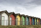 0796 Colourful beach huts — Stock Photo