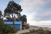 Australian beach and beach hut — Stock Photo