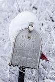An US mailbox closeup in winter — Stock Photo
