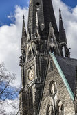 详细信息视图的柏林教会 — 图库照片