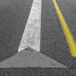 Road marking on an airstrip — Stock Photo