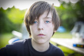 Portrait of a teenage boy, self confident — Stock Photo