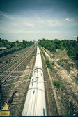 Vintage style moving railroad, shoot in Berlin Germany — Stockfoto