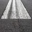 Stock Photo: Road marking on an airstrip at airport