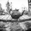 Fish eye close up of very old rusty tepot — Stock Photo #38018297