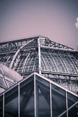 Vintage like photo, roof of a big greenhouse — Stockfoto