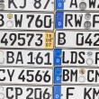 Old german number plates on a wall — Stock Photo #49032235