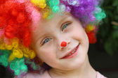 Smiling Child in Clown Costume — Stock Photo