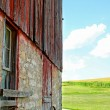 Stock Photo: Old Barn and Cornfield