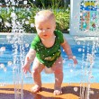Stock Photo: Baby Playing in Water Park