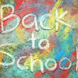 Back to School Written in Chalk — Stock Photo